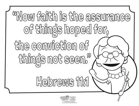 Hebrews 11:1 Coloring Page