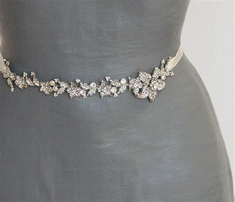 bridal sash wedding floral sash bridal dress sash belt