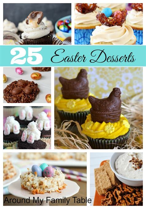 25 beautiful easter desserts around my family table