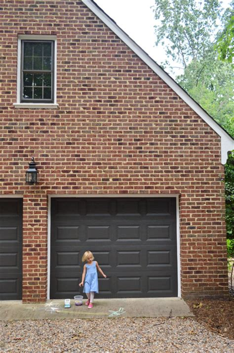 What Colour To Paint Garage Door Painting Our Garage Doors A Richer Deeper Color House