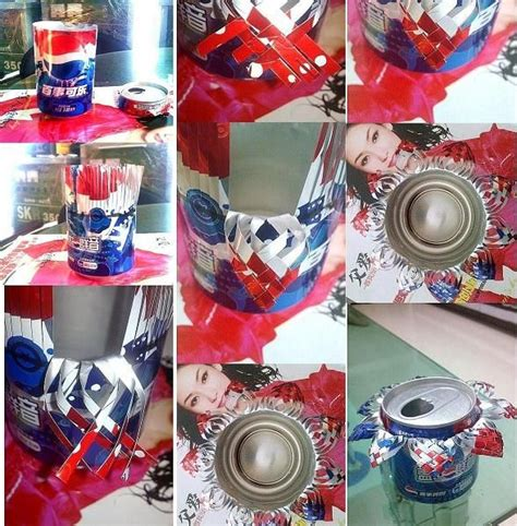 diy projects with soda cans how to make beautiful coke cans ashtray step by step diy