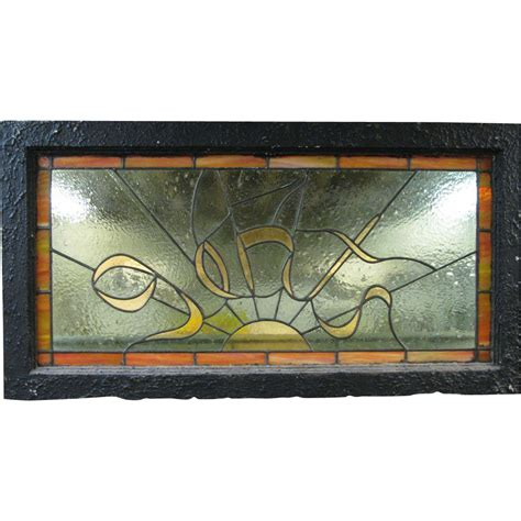 Vintage Transom Windows Inspiration Vintage Stained Glass Transom Windows And Gents From North2southantiques On Ruby