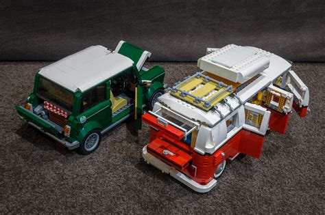 lego volkswagen mini lego mini cooper and vw cer flickr photo
