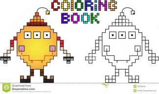 monstre pixel livre coloriage abord images libres droits image 35730649