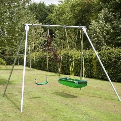 kids double swing double giant swing frame with swing seat and pirate boat