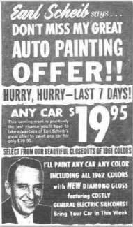 earl scheib the 19 95 car paint job my style pinterest