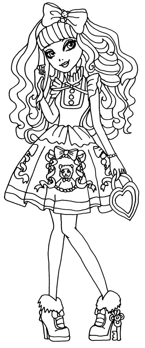 ever after high coloring pages darling charming dibujos para pintar de blondie lockes
