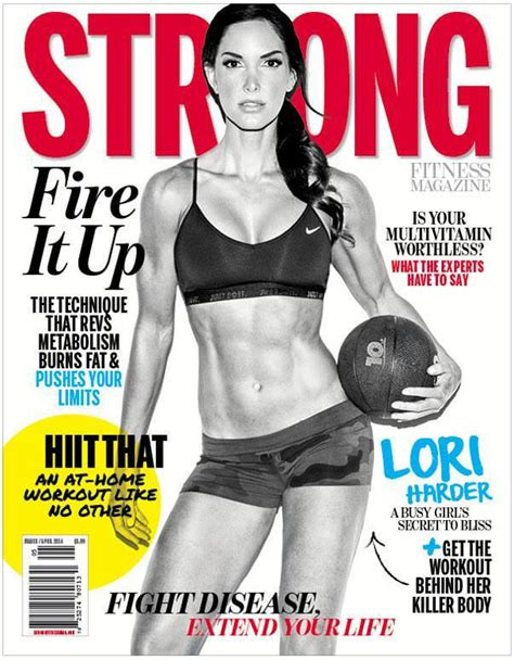 Lifetime Fitness Magazine Detox by Isagenix Athelete Lori Harder On The Cover Of Strong
