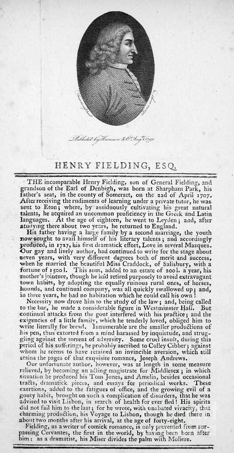 Henry Fielding (1707-1754) Photograph by Granger
