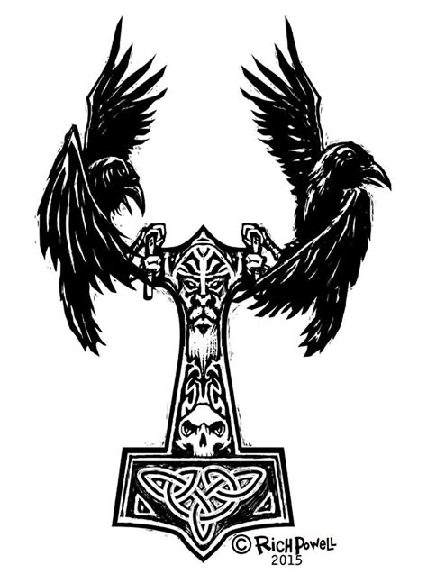 norse raven tattoo viking 12 amazing norse designs