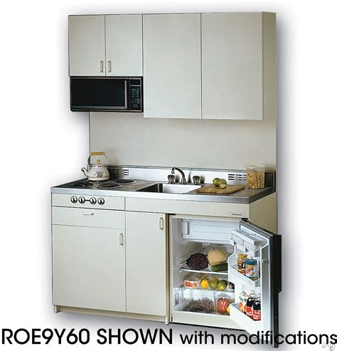 Compact Kitchen Units by Acme Rog10y63 Compact Kitchen With Stainless Steel