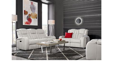White Leather Living Room Chair - 2 477 00 servillo white leather 2 pc living room