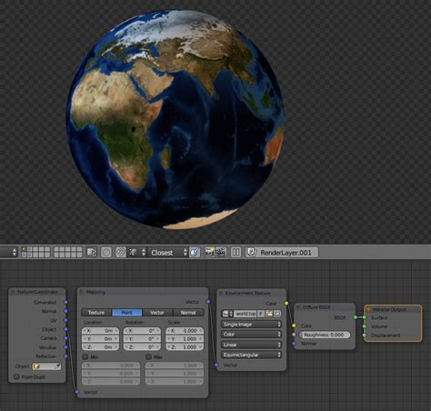 Blender Filip mapping texture to planet blender interplanety
