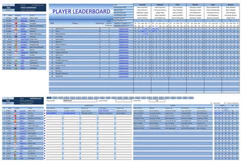 Pool Template by Formula 1 2012 Pool Excel Templates