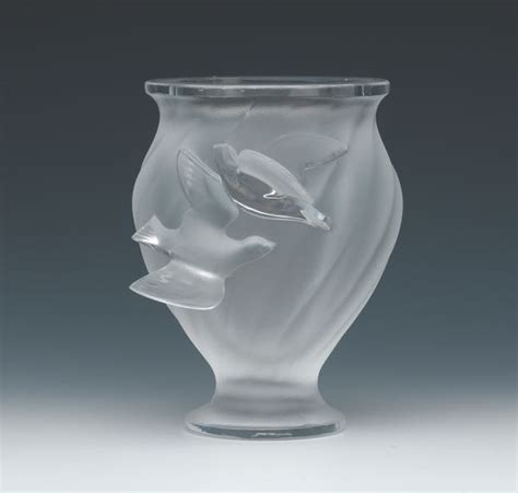 Lalique Dove Vase by Lalique Vase With Doves Images