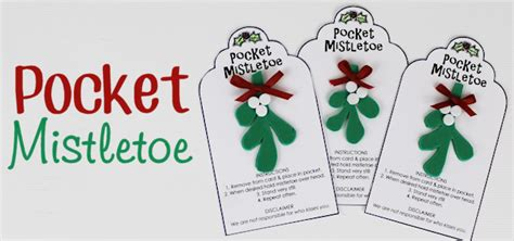 How To Make Mistletoe Out Of Paper - pocket mistletoe diy for kisses