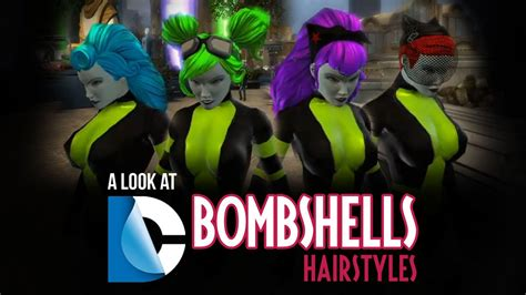 dcuo haircuts dc bombshells hairstyles dc universe online youtube