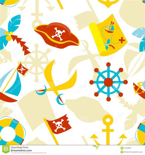 pattern for pirates pirate seamless pattern stock vector illustration of clip