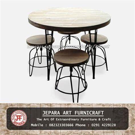 Kursi Bulat Kaki Besi terbaru meja makan antik bulat kaki besi harga termurah