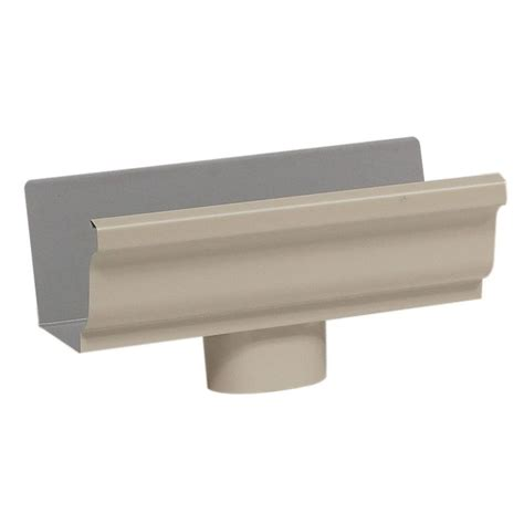 amerimax home products 5 in aluminum gutter end with drop