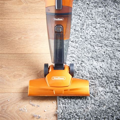 Vacuum Cleaner Merk Orange vonhaus orange 600w 2 in 1 corded upright stick handheld