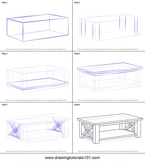 basic upholstery step by step how to draw a coffee table printable step by step drawing