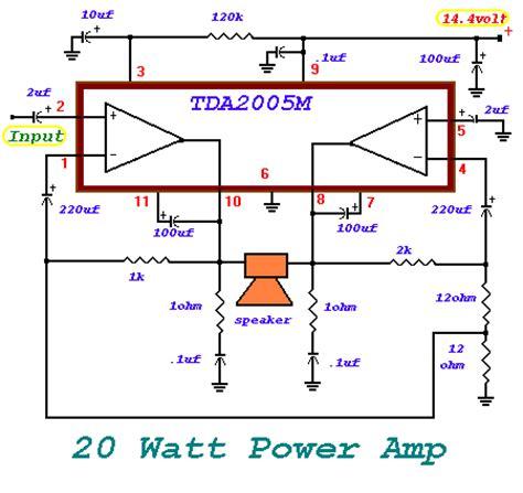 a 20 watt power amplifierr introduction circuit diagram world
