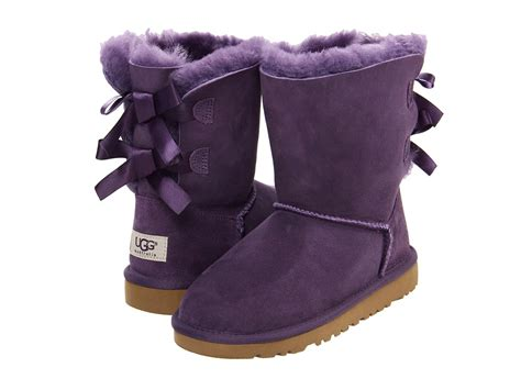 boots with bows purple uggs with bows in the back on the hunt