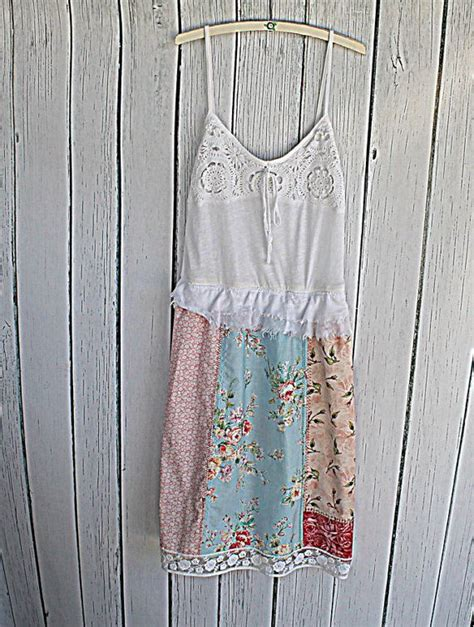 shabby chic clothing s patchwork dress upcycled clothing shabby chic