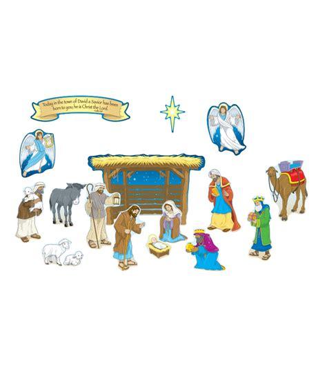printable nativity scene for bulletin board nativity mini bulletin board set grade pk 5 carson