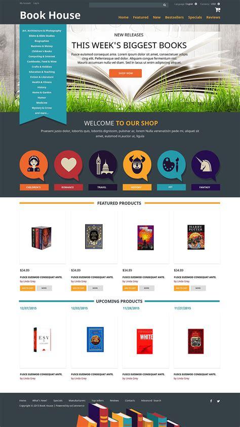 book shop oscommerce template 52482
