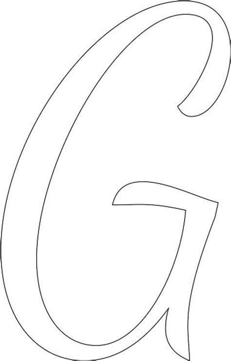 make your own printable letter stencils 29 best images about letter g wall on pinterest
