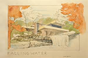 fallingwater house painting by juan bosco