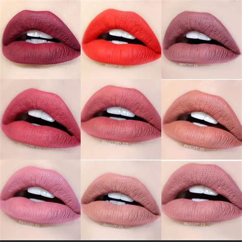 Girlactik Matte Lip Paint In Sweet girlactik matte lip paint colors from top left to right