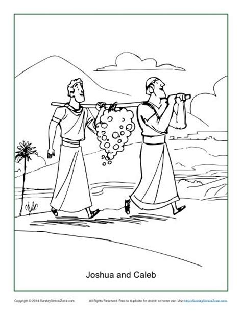 Joshua And Caleb Coloring Pages joshua and caleb coloring page children s bible