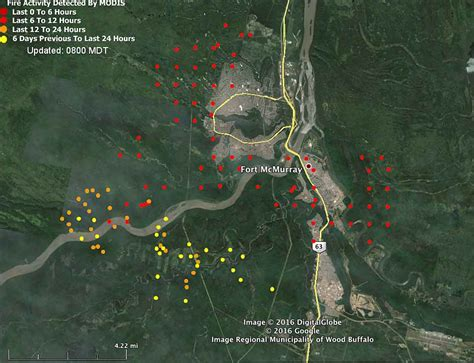 map of current wildfires alberta fort mcmurray continues spreading southeast