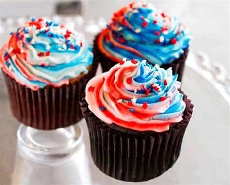 4th of july recipe patriotic ice cream cupcakes