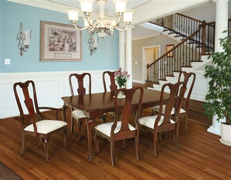 amish dining room table amish queen anne dining room table