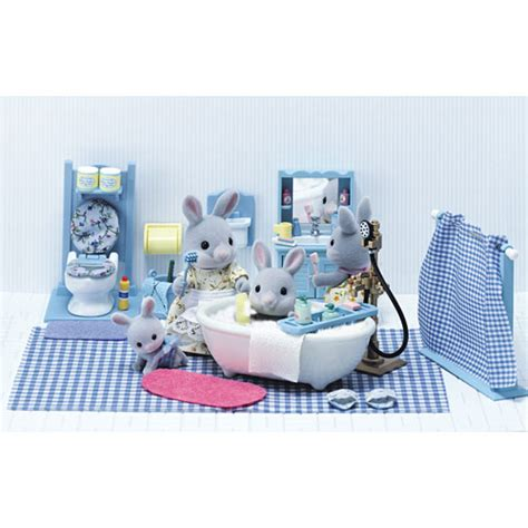 calico critters master bathroom set timbuk toys