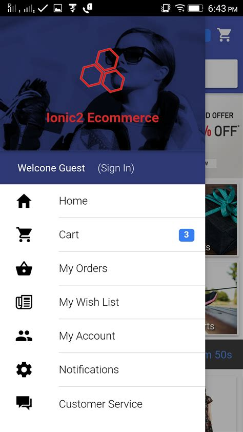Ionic 3 Ecommerce Phonegap Cordova Hybrid App Template By Elvento Labs Ionic Ecommerce Template Free