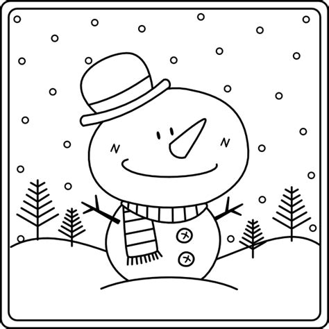 free coloring pages of snowy day