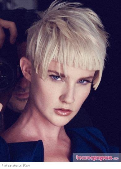 glam   voguish short choppy haircut complement