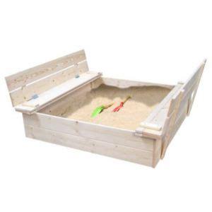 cadenas code bricorama bac 224 sable bois avec bancs rabattables soulet 135 x 120