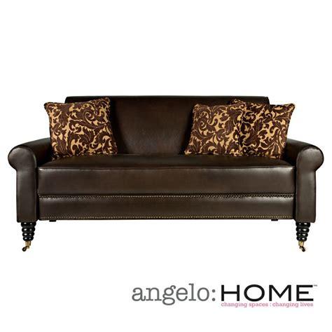 angelo home sofa angelo home harlow sofa in coffee brown renu leather