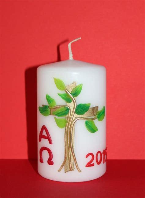 Osterkerzen Vorlagen Muster Osterkerze Baum Kerzen