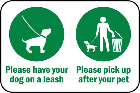 leash your puppy leash up after sign by safetysign f7596