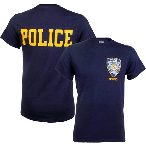 police shirt nypd badge t shirt with police on back