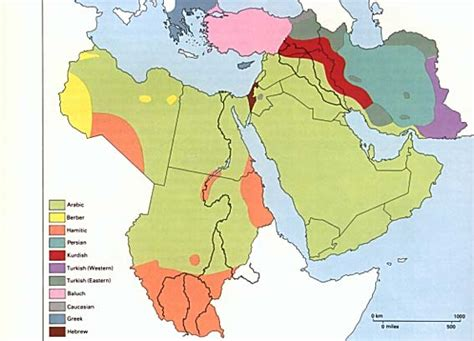 middle east map languages middle east language map middle east map