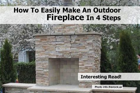 how to build a backyard fireplace how to easily make an outdoor fireplace in 4 steps