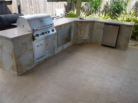 adding an outdoor kitchen consider concrete countertops sted artistry